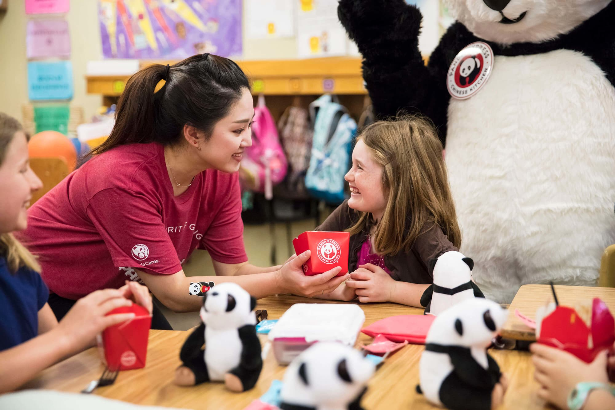 Panda associate with children