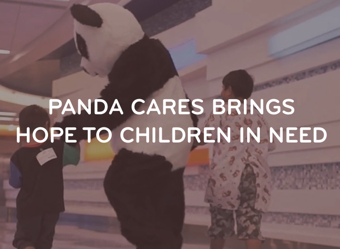 Panda with Children - Panda Cares brings hope to children in need